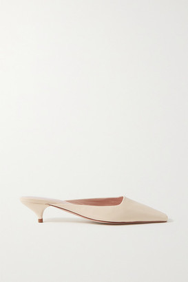 PORTE & PAIRE Leather Mules - Cream