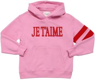 Alberta Ferretti Je T'aime Cotton Sweatshirt Hoodie