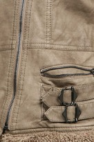Solitaire Sherpa 4 Straps Jacket in Beige