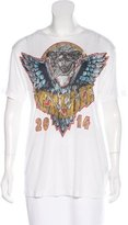 Versace Short Sleeve Graphic Print Top w/ Tags