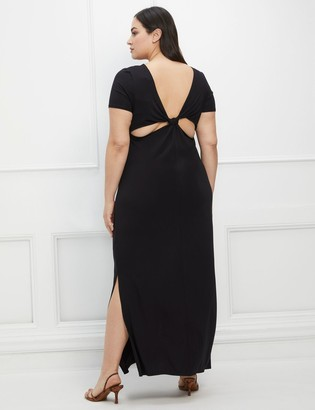 ELOQUII Elements Twist Back Midi Dress