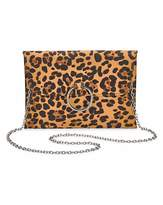 Calvin Klein Sophie Leopard Ring Detail Clutch Bag