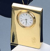 El Casco Clock Paperweight 23 Karat Gold Plated M-660L