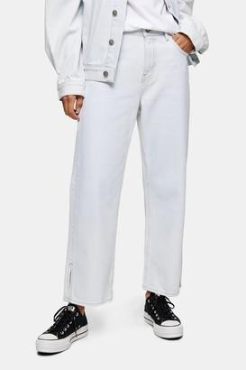 Topshop Womens **Bleach Wash Straight Jeans By Bleach Denim