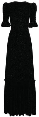 The Vampire's Wife Night Flight Velvet Maxi Dress