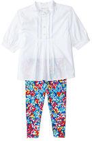 Ralph Lauren Girl Pintucked Tunic & Legging Set