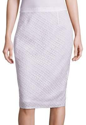 Escada Silk Lace Pencil Skirt