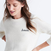 Madewell Embroidered Backroad Button-Back Sweater