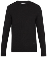 Ami Ribbed-knit wool sweater