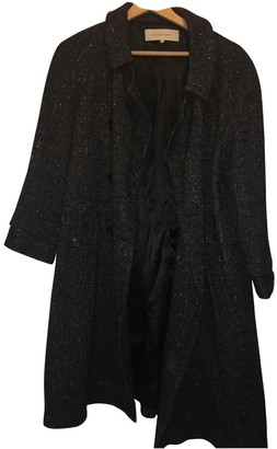 Gerard Darel Anthracite Cotton Coat for Women