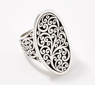 Lois Hill Sterling Silver Signature Scroll Saddle Ring
