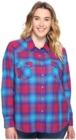 Roper Plus Size 0510 Bright Ombre Plaid Western Shirt