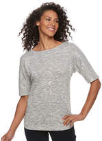 Croft & Barrow Women's Rouched Dolman Tee