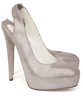 Brian Atwood Shimmery Suede Slingback Pump