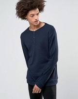 Weekday Make Long Sleeve Top Grandad Waffle