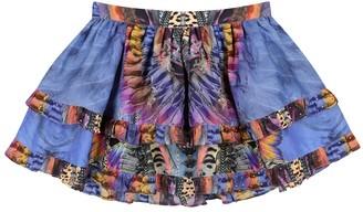 Camilla Kids Embellished printed cotton-blend skirt