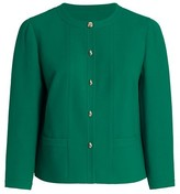 Thumbnail for your product : Lafayette 148 New York, Plus Size Sami Collarless Wool-Blend Jacket