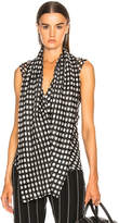 Haider Ackermann Polka Dot Draped Front Top