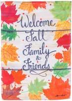 """Evergreen Welcome Family & Friends"""" Indoor / Outdoor Garden Flag"""