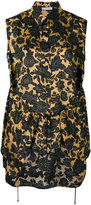 Christian Wijnants sleeveless floral top - women - Cupro/Viscose - 40