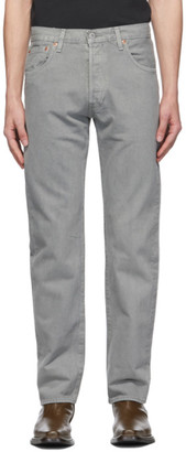 Levi's Levis Grey Garment-Dyed 501 93 Straight Jeans