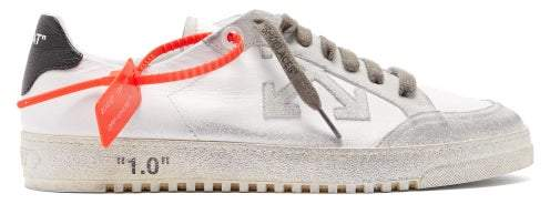 Off-White Off White 2.0 Glitter Low-top Leather Trainers - Mens - White Multi