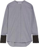 J.W.Anderson Embellished Gingham Cotton-poplin Shirt - Black