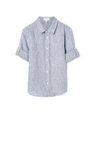 Witchery Stripe Linen Shirt