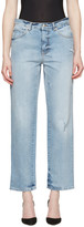 Alexander McQueen Blue Loose Fit Jeans