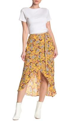 Sanctuary Jamie Faux Wrap Midi Skirt