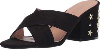Yoki Women's Flat Heel Cross Strap Mule