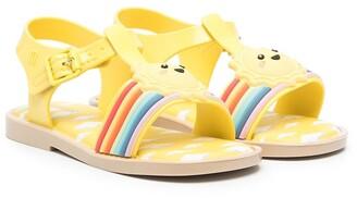 Mini Melissa Sunny Day applique sandals
