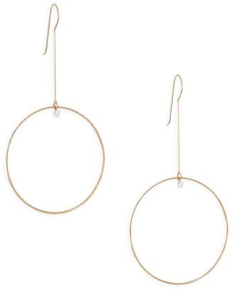 Zoë Chicco Paris Diamond & 14K Yellow Gold Circle Drop Earrings