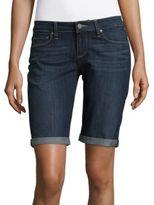 Paige Jax Denim Knee Shorts