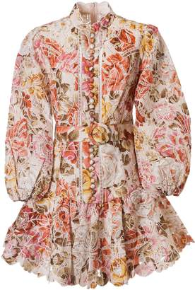 Zimmermann All-over Floral Print Flared Dress