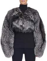 Michael Kors Cropped Collarless Fox Fur Jacket