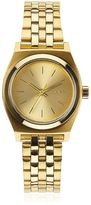 Nixon Small Time Teller Gold Finish Watch