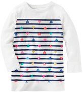 Osh Kosh TLC Heart Print Striped Tunic