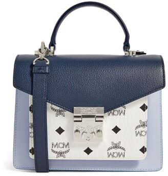 MCM Small Leather Patricia Visetos Satchel