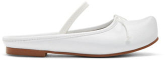 Flat Apartment White Pointed Toe Sabot Ballerina Flats