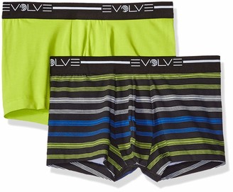 evolve E-volve Men's Cotton Stretch No Show Trunk Underwear Multipack