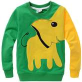 DD-CM Little Boys' Elephant Print Sport Long Sleeve Pullover Sweatshirt Tops