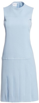 Akris Punto Sleeveless Pleated Shirt Dress