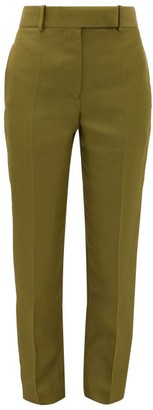Haider Ackermann Tailored Slim-leg Canvas Trousers - Khaki