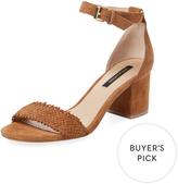 Ava & Aiden Women's Woven Suede Block Heel Sandal