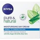 Nivea Pure & Natural Moisturising Day Crème 50 mL