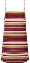 Zimmermann Karmic Striped Glittered Cotton-Blend Mini Dress