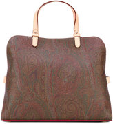 Etro paisley print tote bag - women - Cotton/Calf Leather/Polyester/PVC - One Size