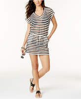 Calvin Klein Striped Tunic Cover Up, Created for Macy's Style Women's Swimsuit