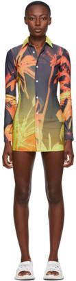 Louisa Ballou SSENSE Exclusive Orange Lycra Shirt Dress